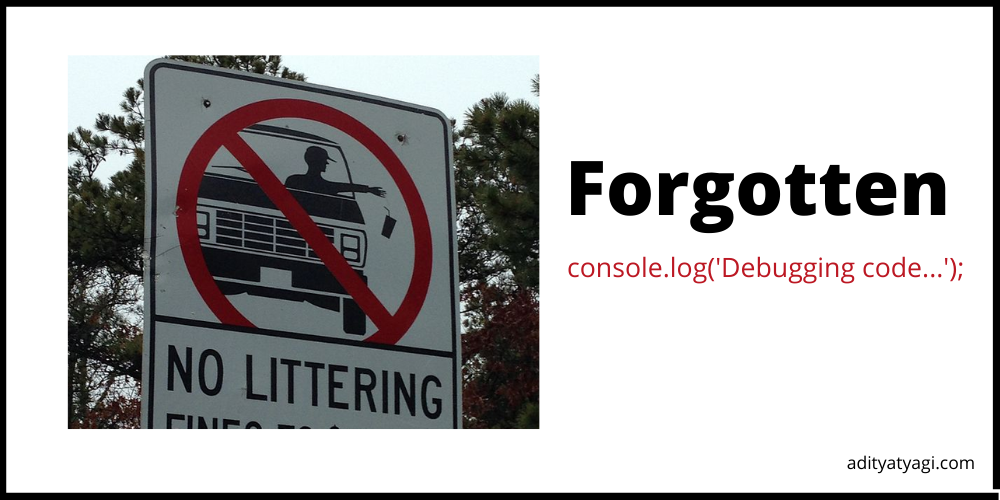 Remove all console.log() in one go!