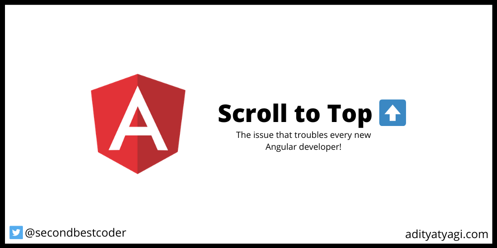Scroll to top issue in Angular apps